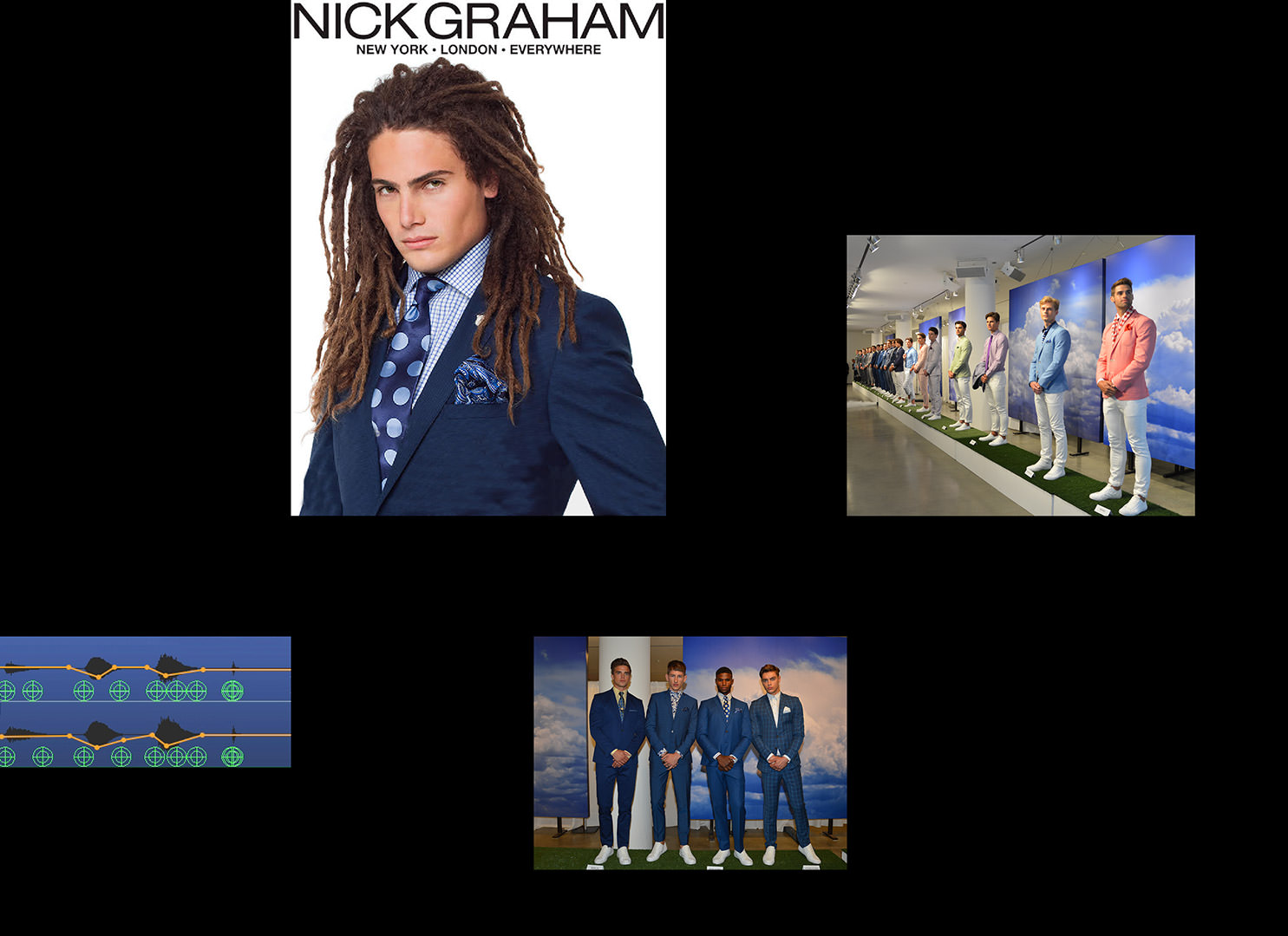 Spatial audio for the Nick Graham menswear launch